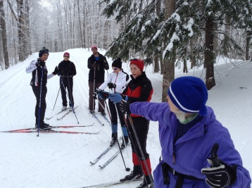 Nancy, instructing the group.