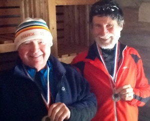 Our Doug Hollingsworth and Jim Reain, both winning first in their age category for the 20 km.