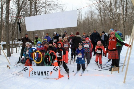 Go Perianne!!  From the Tay Valley Ski Kids!