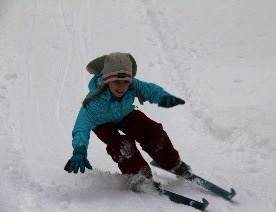 Showing off her skiing skills in our Bunny/Jackrabbit Program.