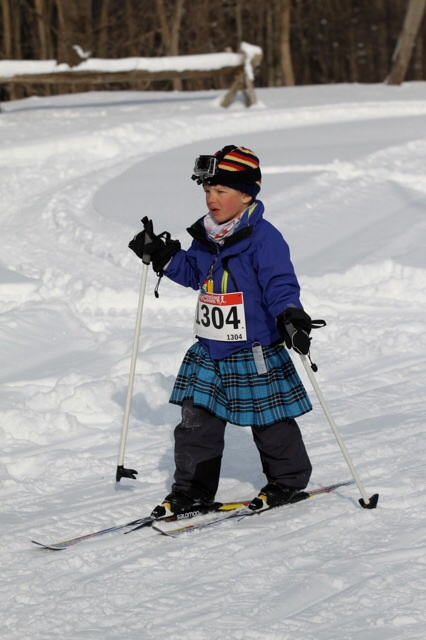 Sebastian Rauwerda, kilt skier.