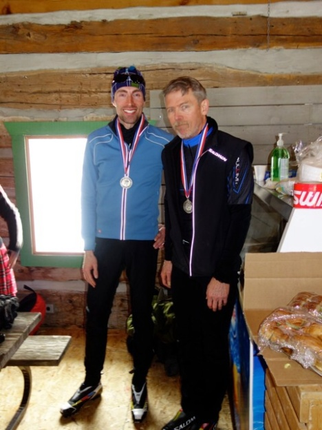Top two overall men in the 20 km, Jesse Godwin, 1st, and Greg Dale Irwin, 2nd.