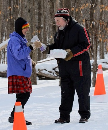 Frank Roy, perennial Loppet volunteer, with Nancy Gaudreau, our Loppet Coordinator.