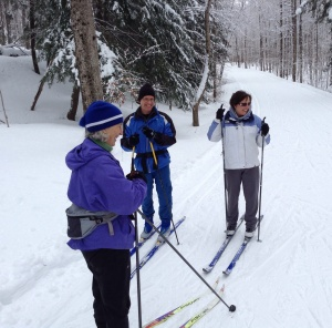 To learn better skiing techniques from Nancy Gaudreau and Rick Sauder in a Tay Valley Ski Clinic.