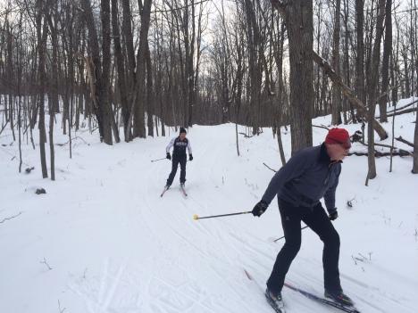Enjoying a New Year's Day Ski.